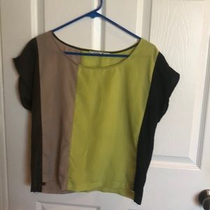 Colorblock Silky Boxy Top